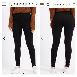 topshop denim leggings